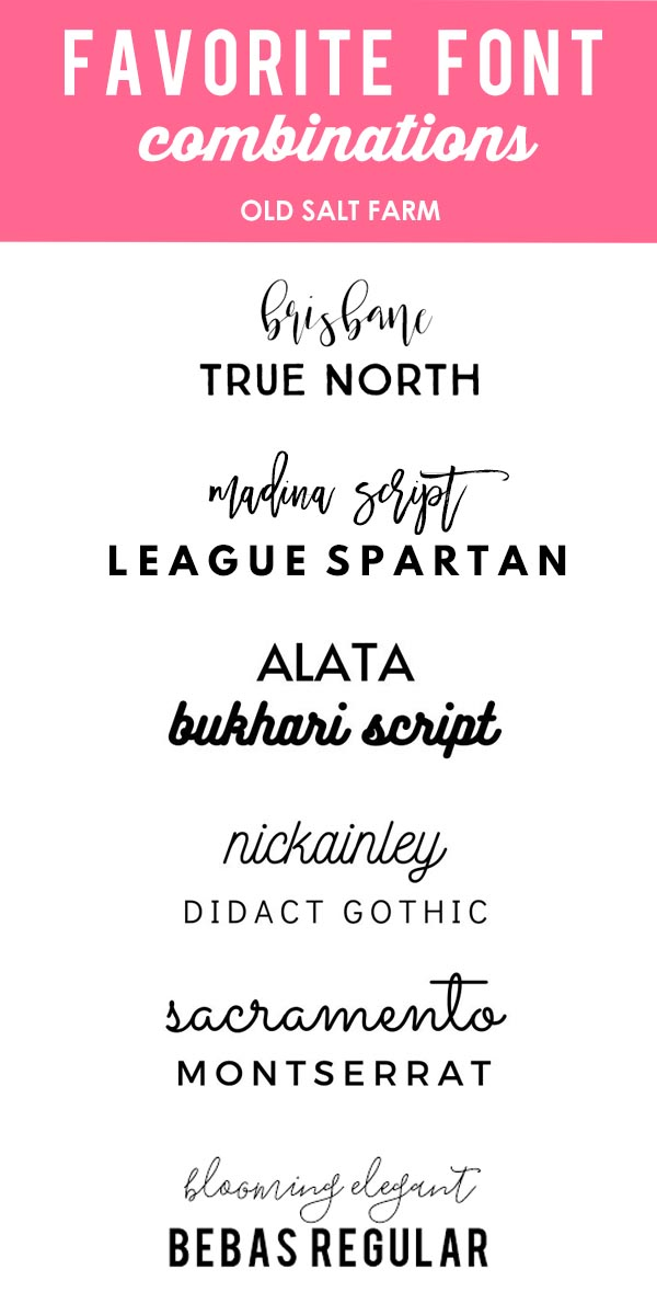 Favorite Font Combinations