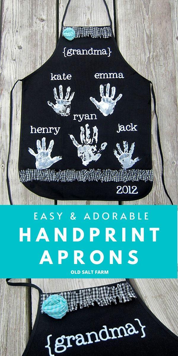 Handprint Aprons Gift Idea