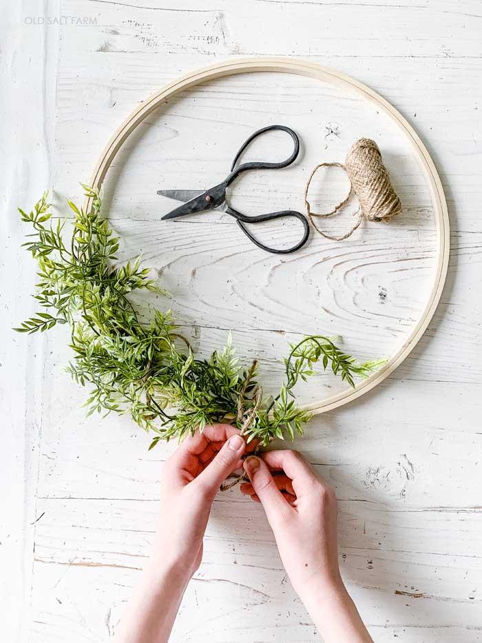 Greenery Spring Hoop Wreath