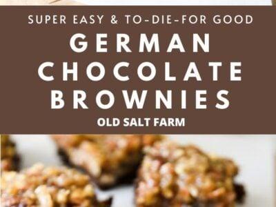 German Chocolate Brownies