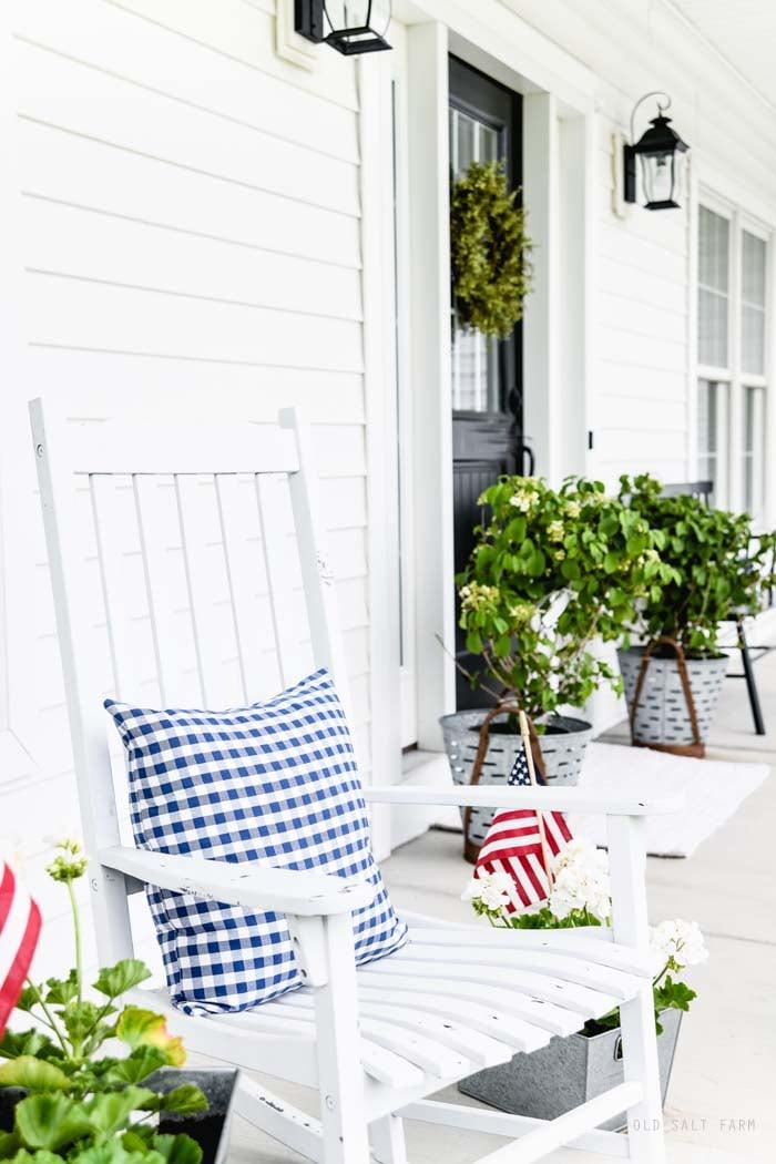 Patriotic Farmhouse Summer Porch