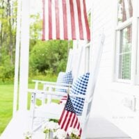 Patriotic Farmhouse Summer Porch