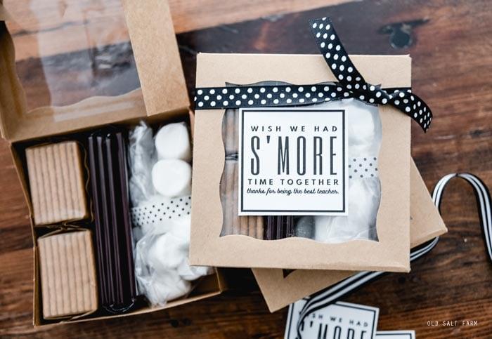 S'mores Teacher Gift Idea & Printable