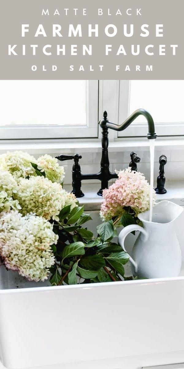 Black Farmhouse Kitchen Faucet