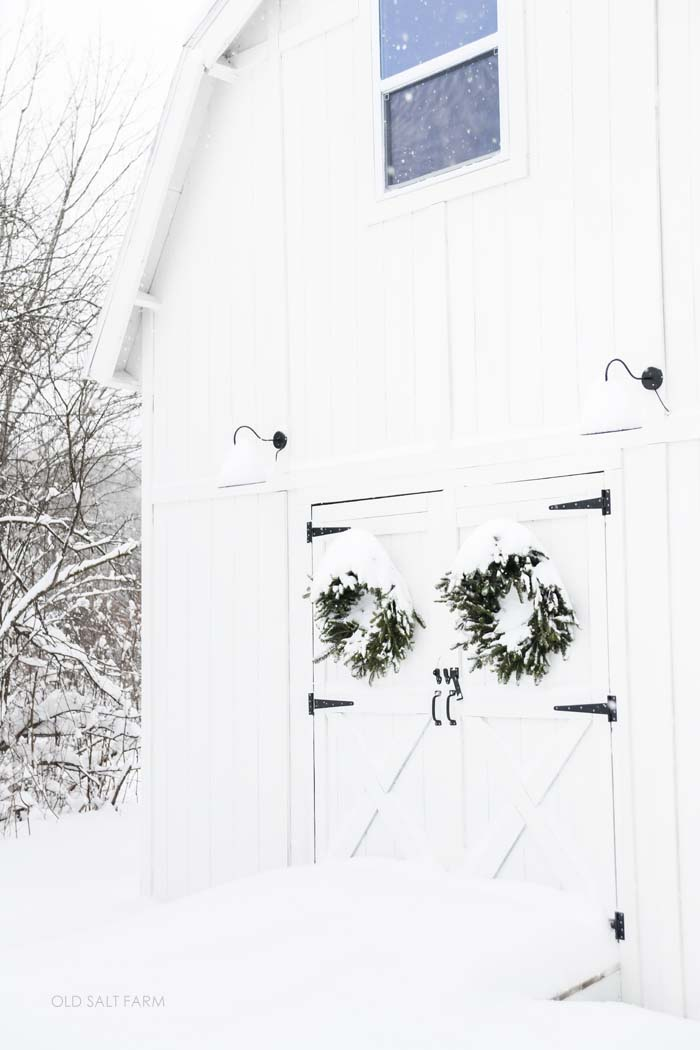 Winter White Barn