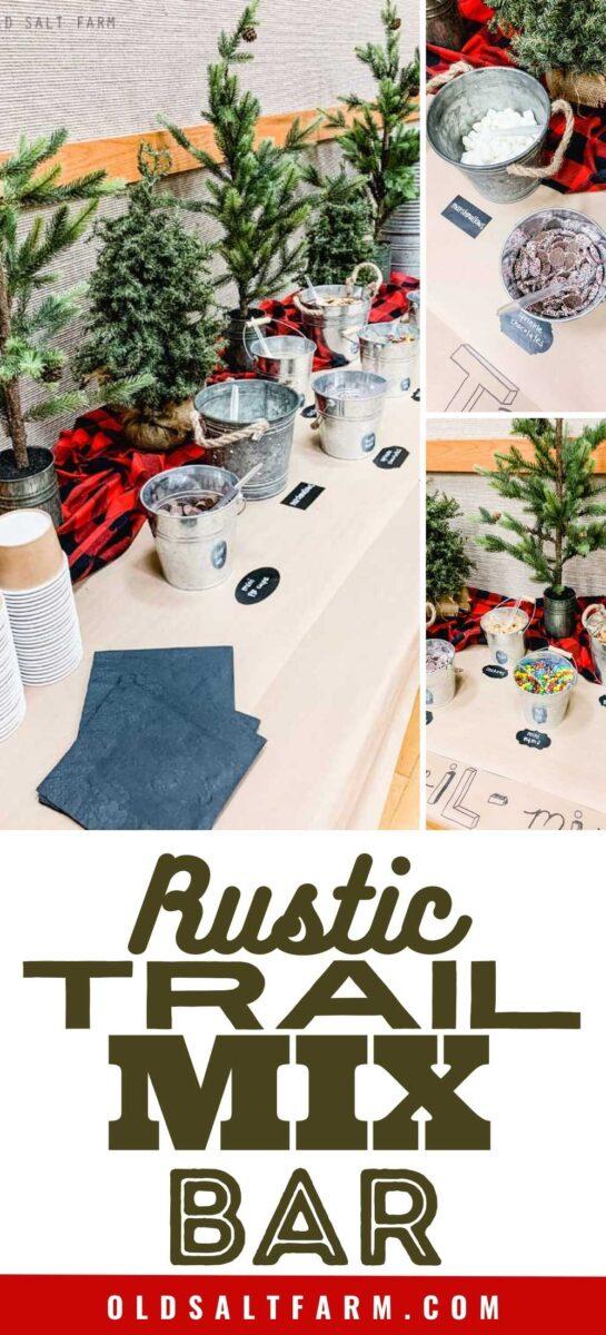 Rustic Themed Trail Mix Bar