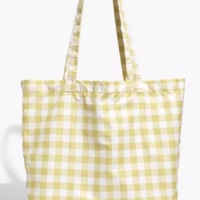 Madewell Gingham Shopper Tote