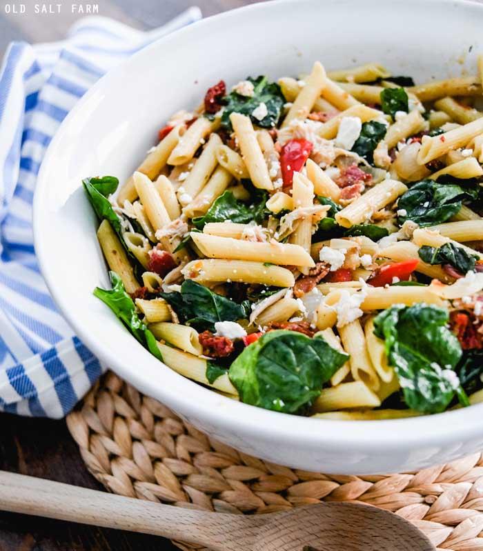 Spinach Penne Pasta Salad Recipe