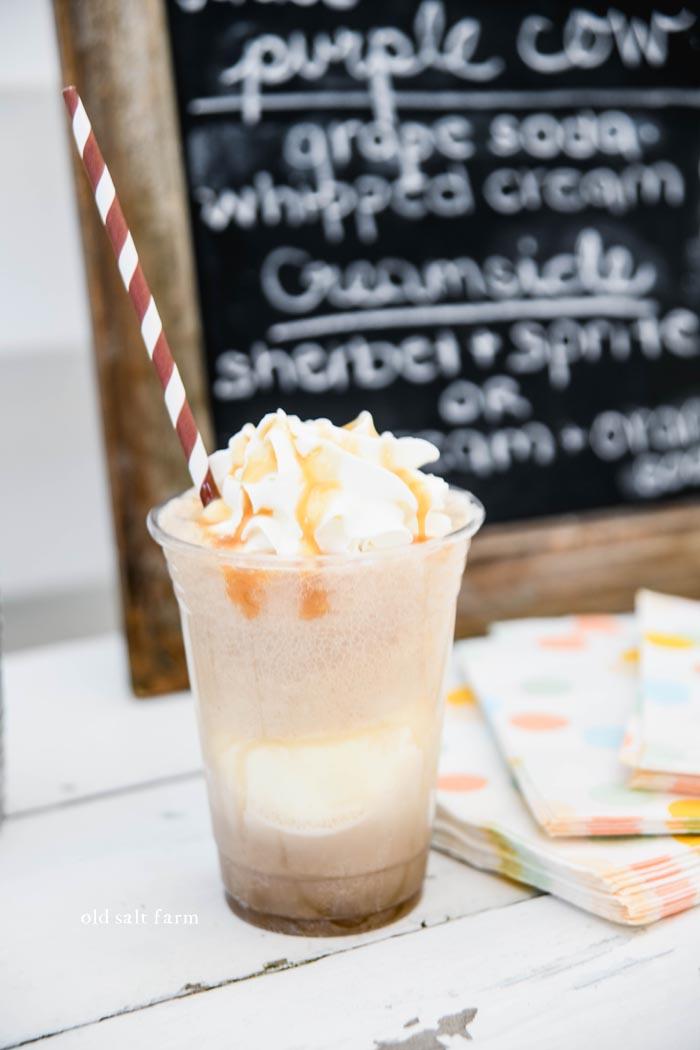Salted Caramel Ice Cream Float