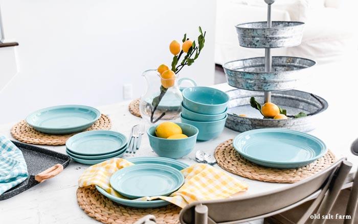 Summer Tablescape Lemon Decor