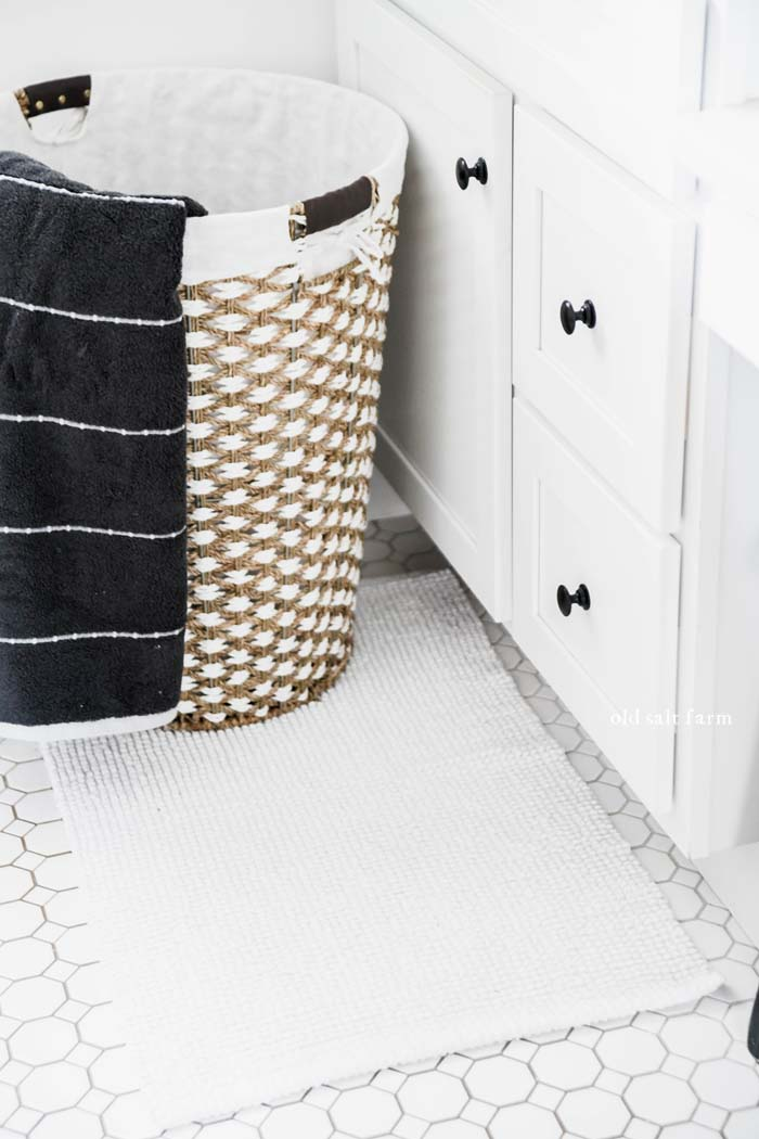 Laundry Basket and towel