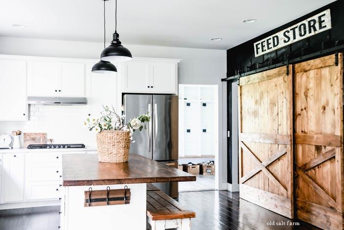 Farmhouse Kitchen Pendant Lighting Glass or Metal