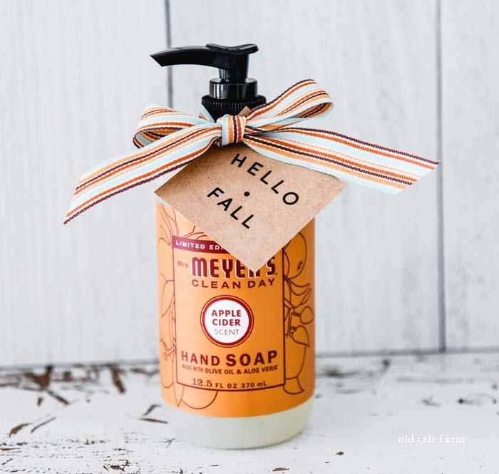 hello fall gift idea apple hand soap