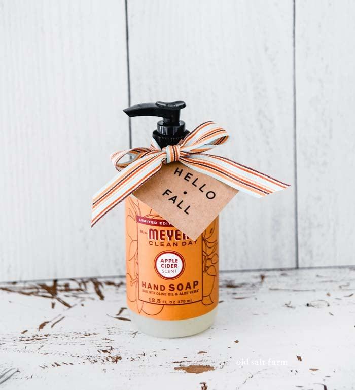hello fall gift idea hand soap